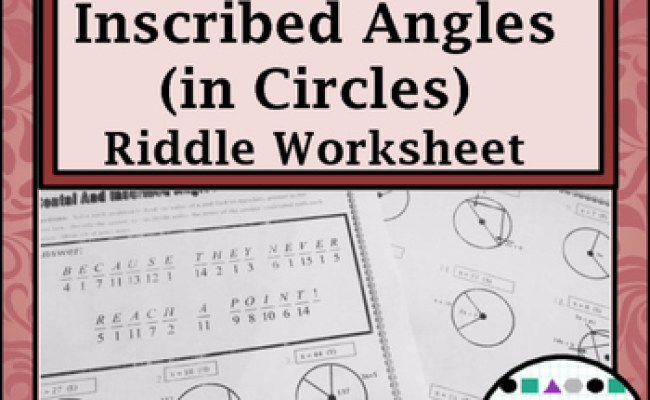 Circles Geometry Circles Central Inscribed Angles Riddle Practice Worksheet Cute766