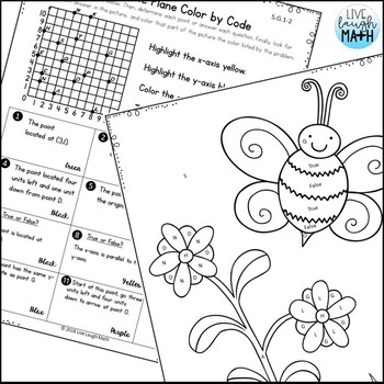 Geometry Coloring Activities- Fifth Grade by Live Laugh