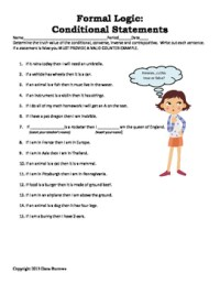 Geometry: Logic with Conditional Statements, Converse ...