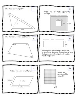 Geometry Task Cards 78 ~~~ Middle School Math by Math