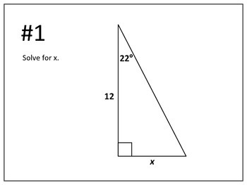 Geometry: Solving Triangles Using Trig Ratios