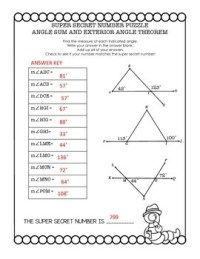 Geometry Super Secret Number Puzzle Triangle Sum and ...