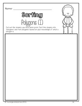 {Grade 2} Geometry and Spatial Sense Activity Packet by