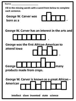 Black History Hero George Washington Carver Biography by