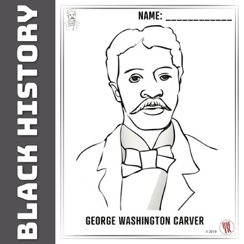 george washington carver coloring page # 1