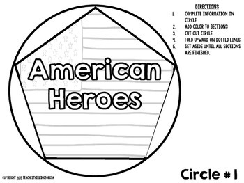 Georgia 3rd Grade- Famous Americans Dodecahedron Craft