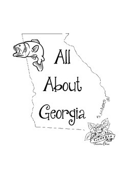 Georgia Lapbook/Interactive Notebook. US State History