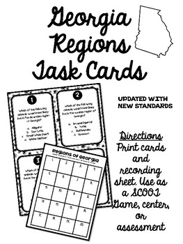 Georgia Regions-Regions of Georgia Activity Pack by