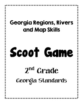 Georgia Regions, Rivers and Map Skills SCOOT game 2nd