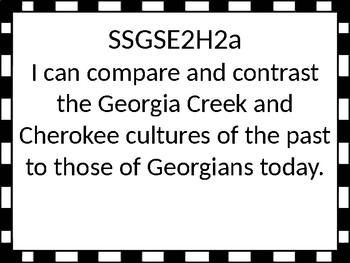 Georgia Standards of Excellence 2nd grade Social Studies I