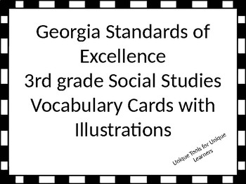 Georgia Standards of Excellence 3rd grade Social Studies