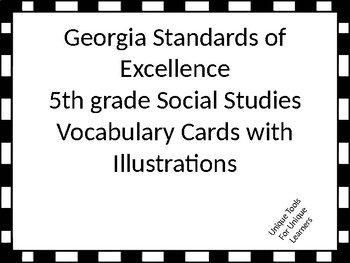 Georgia Standards of Excellence 5th grade Social Studies