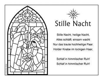German Christmas Carol Stille Nacht Silent Night
