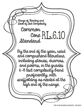Get Organized! 6th Grade Common Core ELA Binder Organizer