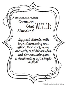 Get Organized! 7th Grade Common Core ELA Binder Organizer