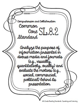 Get Organized! 8th Grade Common Core ELA Binder Organizer