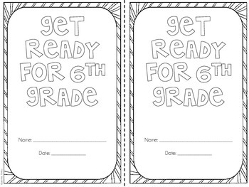 Get Ready for 6th Grade {Printable Mini Booklet} by