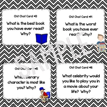 Getting to Know YOU! Back to School Chit Chat Cards for