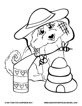 Summer Coloring Pages: Giddy-Up Fairytale Cowgirl by Kat