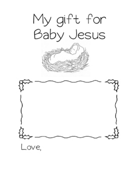 Gift for Baby Jesus Worksheet by Little Miss Catechist