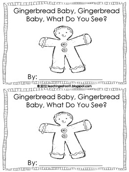 Gingerbread Baby mini-book by Teaching's a Hoot by Nicole