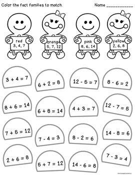 Gingerbread Fact Family Math Activities {FREE} by Simply