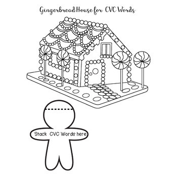 Gingerbread Phonics Reading Flip Book CVC CVCE Worksheet