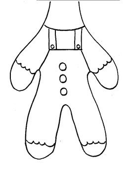 Gingerbread Man Paper Bag Puppet and Math Activities by