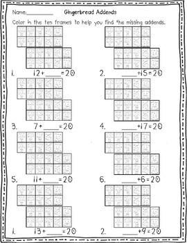 Gingerbread Man Activities: Math Centers by Herding Kats