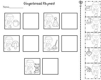 Gingerbread Man Activities: Rhyming by Herding Kats in