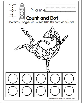 Giraffes Can't Dance Dot Dauber, Scissor Practice, and