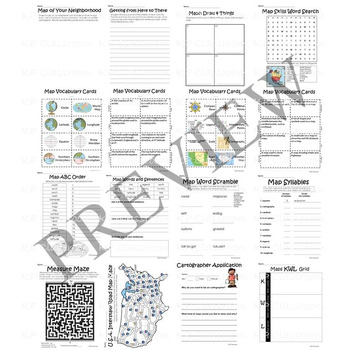 Globe and Map Skills Activity Packet and Worksheets by KP