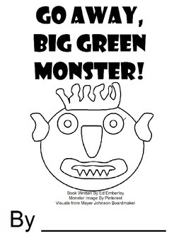 Go Away Big Green Monster Coloring Page Coloring Pages