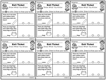 Go Math 1st Grade Exit Tickets