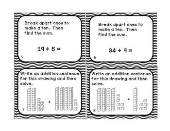 Go Math 2nd Grade Chapter 4 Two Digit Addition Task Cards