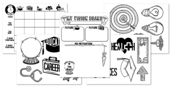 Goal Setting Activities- Graphic Organizer, Timeline and