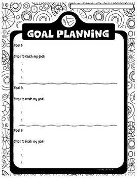 SMART Goals for Leadership Activity Pages by Caffeine