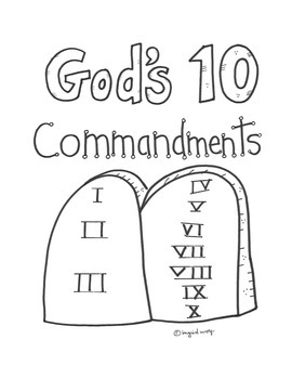 God's Ten Commandments Activity Booklet for Catholic