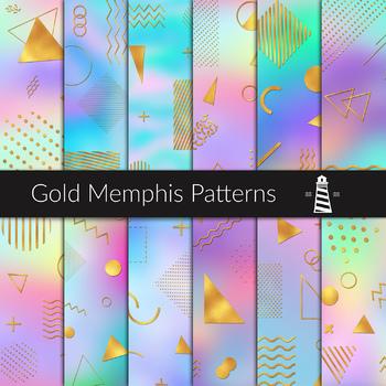 gold memphis patterns 80