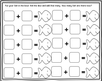 Goldfish in the Bowl Addition and Subtraction Activity Set