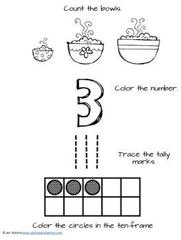 Goldilocks and the Three Bears Math Activities by Joyful