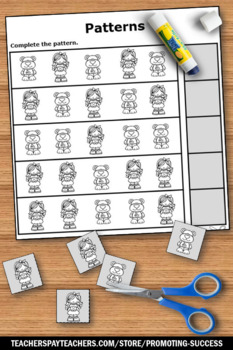 Kindergarten Math Review Worksheets Goldilocks and the