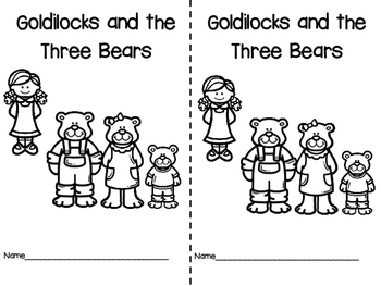 Goldilocks and the Three Bears Pre-K and K Literacy and