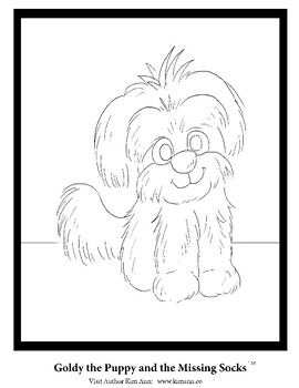 Goldy the Puppy and the Missing Socks Coloring Sheets by
