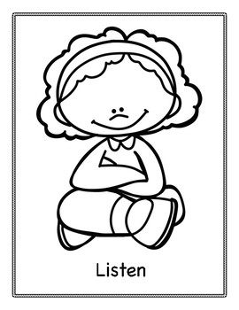 Social Skills: Good Choice Coloring Pages by Positive