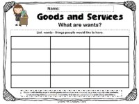 Goods Services Second Grade Worksheets. Goods. Best Free
