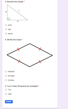 Google Forms Geometry Exit Slip Ticket by Keegan for Kids