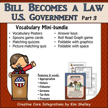 government vocabulary mini set bill becomes a law 3
