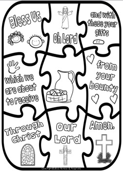 Grace Before Meals ~ Prayer Posters, Worksheets and