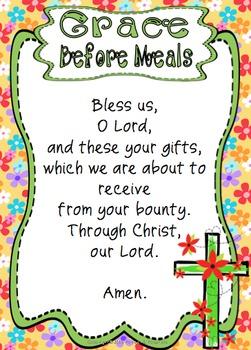 grace before meals prayer
